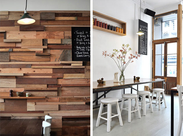 ... Recycled timber cafe fitout