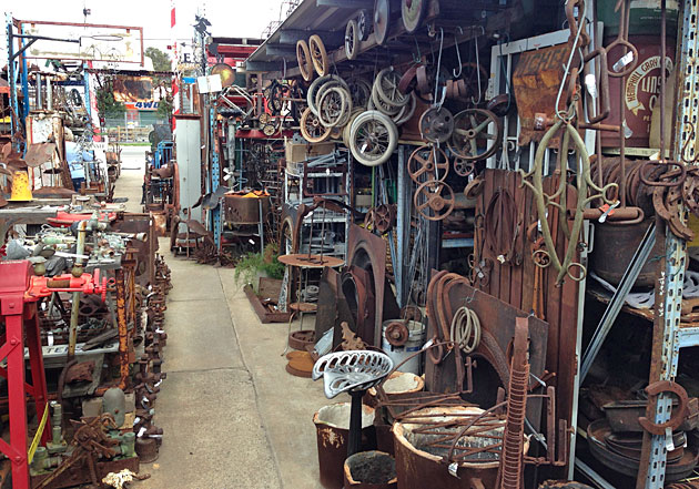 The Junk Map Bellevue Garden Art Vintage Machinery And