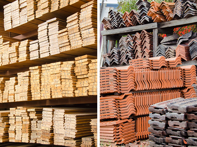 The junk map how to recycle building materials from your for Reclaimed house materials