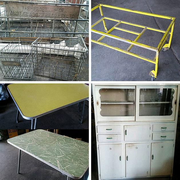 Vintage furniture finds, GHG Recycling, Melbourne