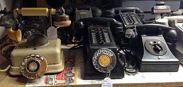 Vintage telephones, Rustic Gallery, Perth