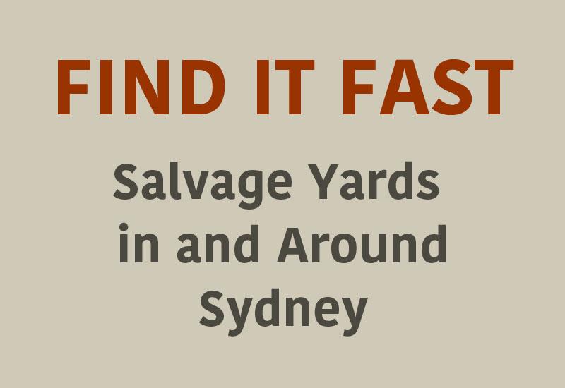 Salvage yards in and around Sydney