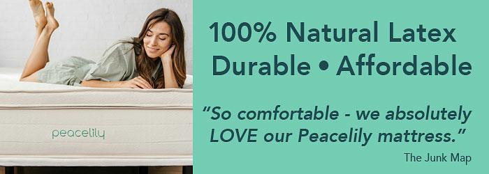 Peacelily Natural Latex Mattress, Durable, Affordable