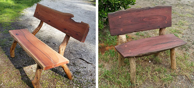 Rustic Timber Garden Seats