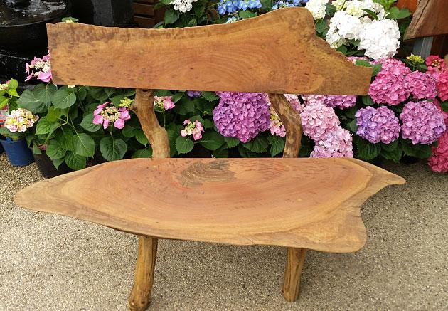 Rustic timber garden seat