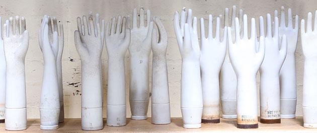 Vintage porcelain glove moulds, Mulbury, Melbourne