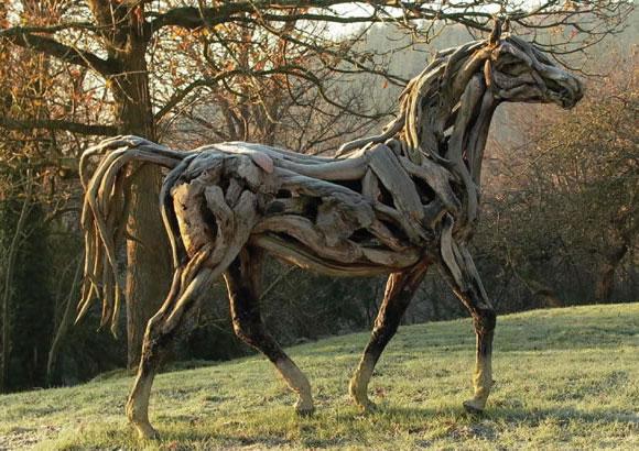 Heather Jansch driftwood horses
