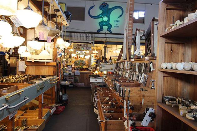 Secondhand hardware, Hughes Renovators Paradise, Melbourne