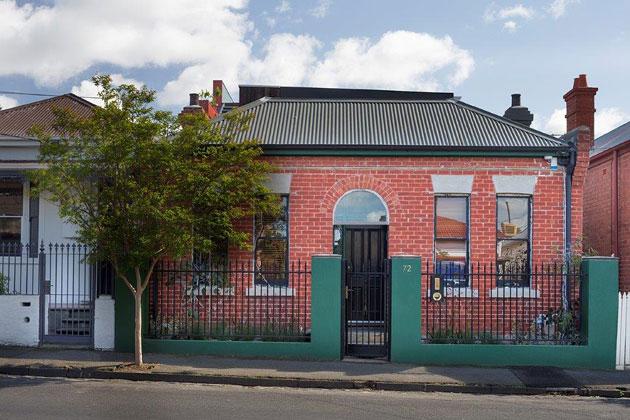Melbourne heritage facade, modern renovation at rear
