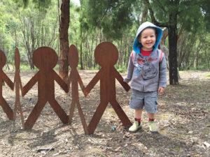 Outdoor garden art, Tread Sculptures, Bend of Islands, Melbourne