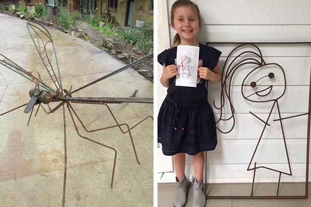 Outdoor garden art and custom metal work, Tread Sculptures, Bend of Islands, Melbourne