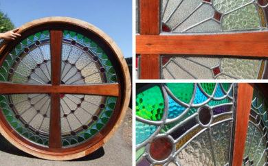 Church porthole window salvaged by Renovate Restore Recycle, Bendigo