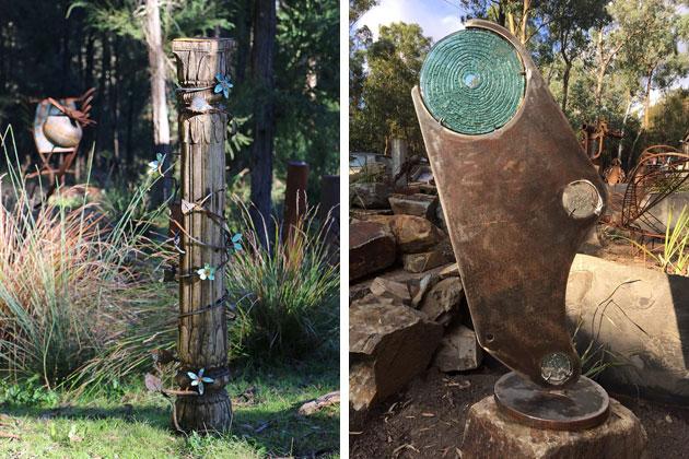 Tread Sculptures recycled metal garden art, Melbourne, Australia