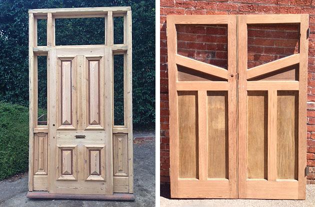 Secondhand doors at Renovate Restore Recycle, Bendigo