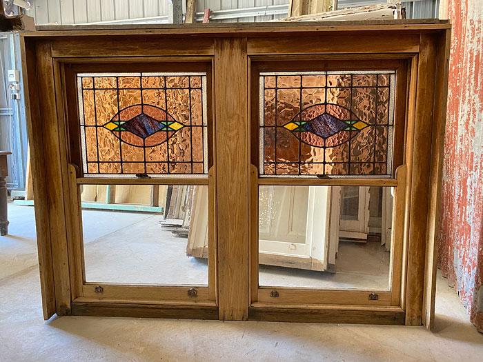 Secondhand leadlight window, Renovate Restore Recycle, Bendigo