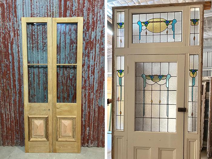 Secondhand door and leadlight entrance door, Renovate Restore Recycle, Bendigo