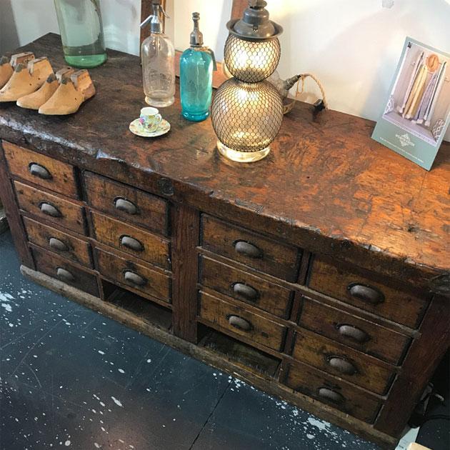 Antique cobblers work bench, Rough Luxury Noosa