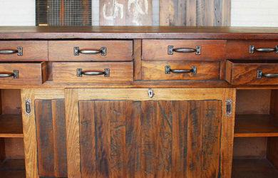 Restored industrial cabinet, Timber Feeling, Melbourne