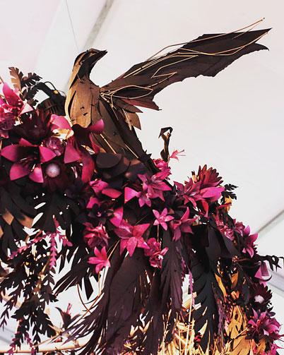 'Geisha Garden' marquee installation by Georgie Seccull, Melbourne