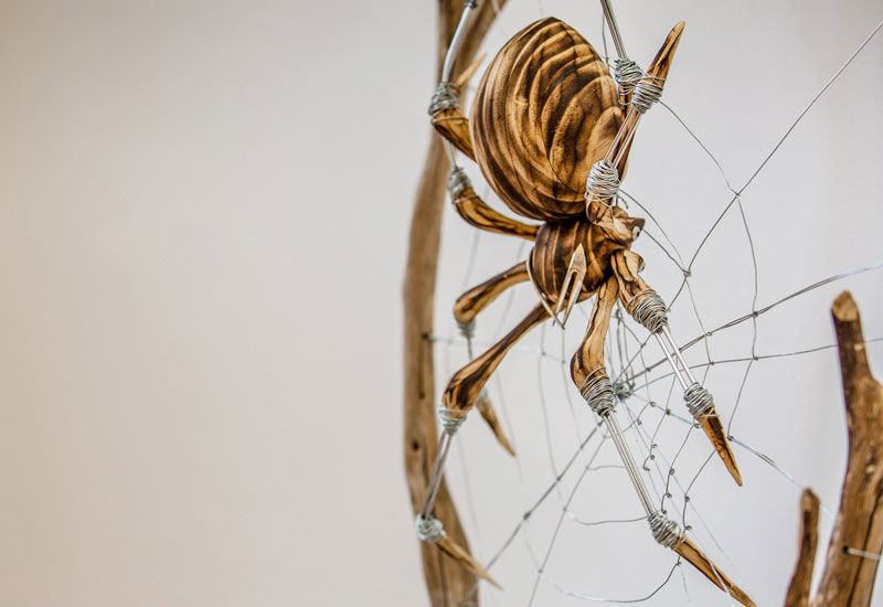 Upcycled spider sculpture by Georgie Seccull, Melbourne, Australia