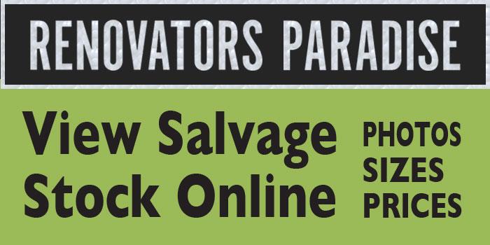 Hughes Renovators Paradise. View salvage stock online. Photos, sizes, prices