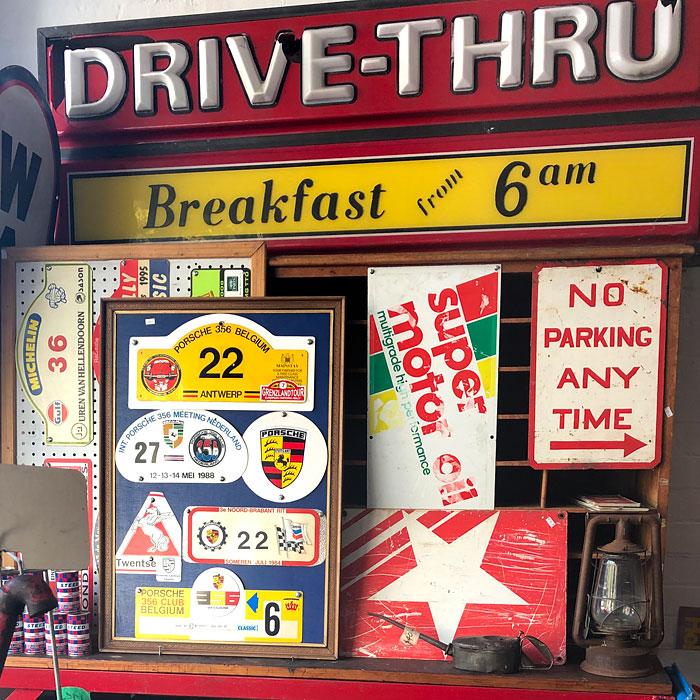 Signs and garagenalia, Gas Art, Melbourne