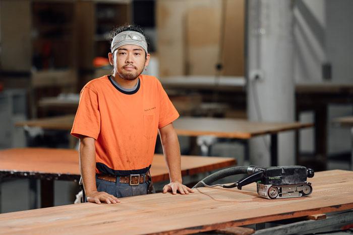 Furniture maker at Thor's Hammer, Canberra