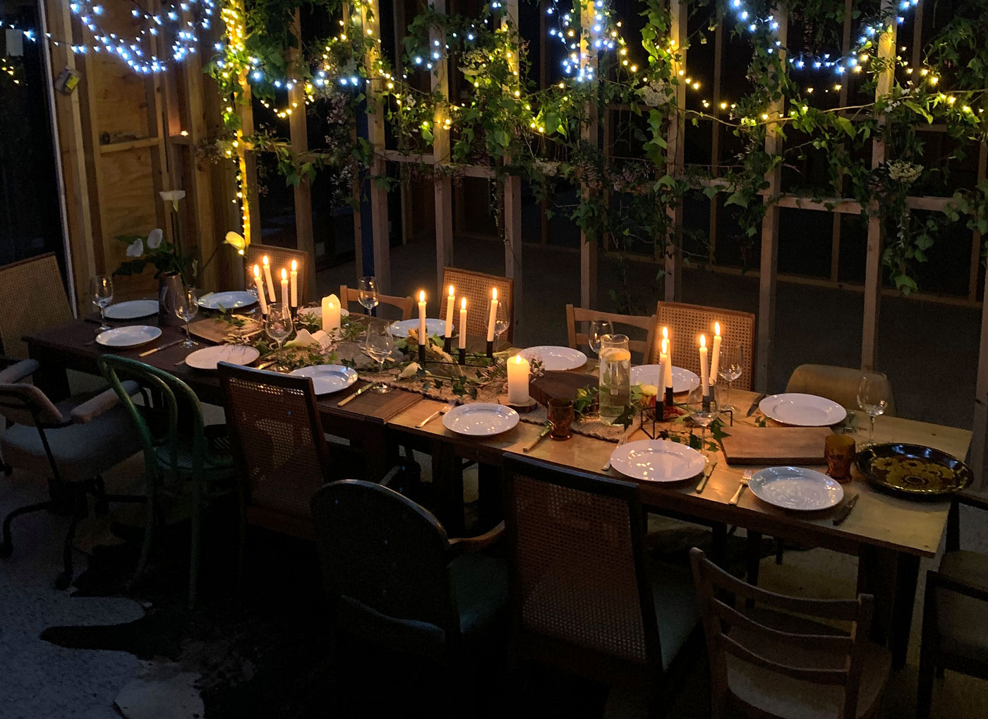 Renovation site dinner party