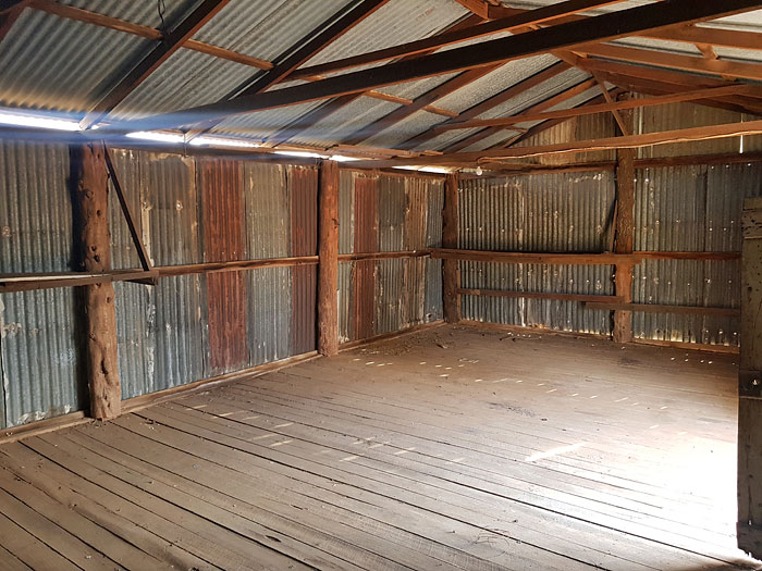 Old farm shed before deconstruction, Victoria