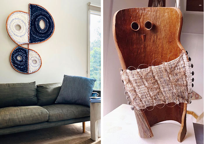 Upcycled wall hangings and handcrafts by Waefolio Projects in Melbourne